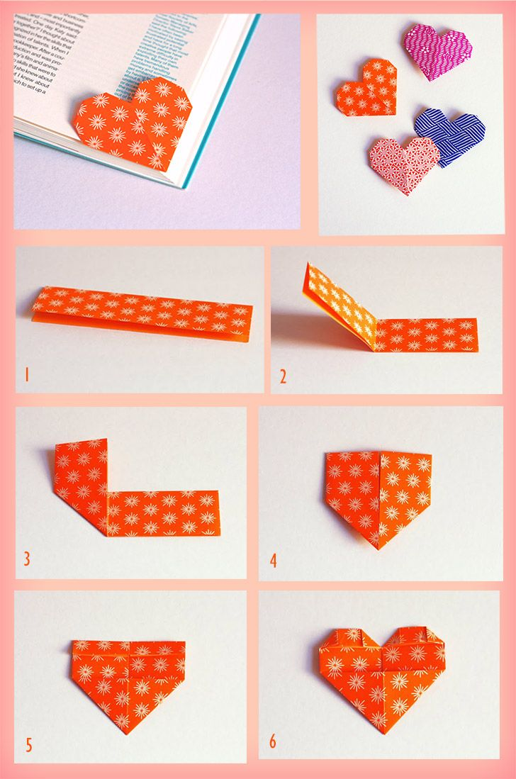 Origami Heart bookmarks! This is great for anyone who loves to read :)