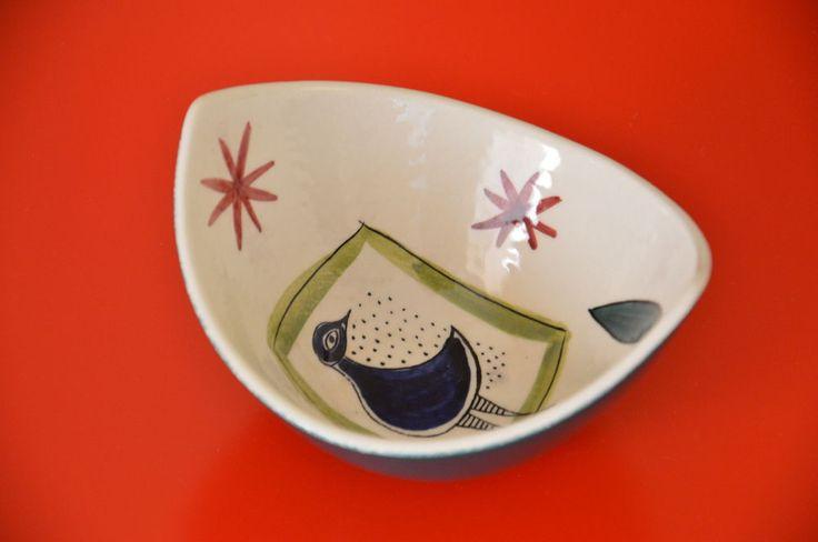 Keramik Schale Stavangerflint Norwegen Inger Waage 50er 60er Jahre