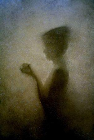 woman with a cup by Małgorzata Kossakowska