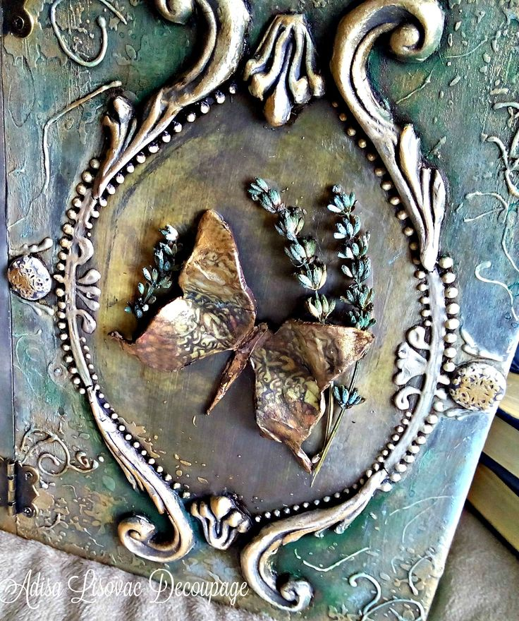 altered old book box butterfly book cover Adisa Lisovac Decoupage