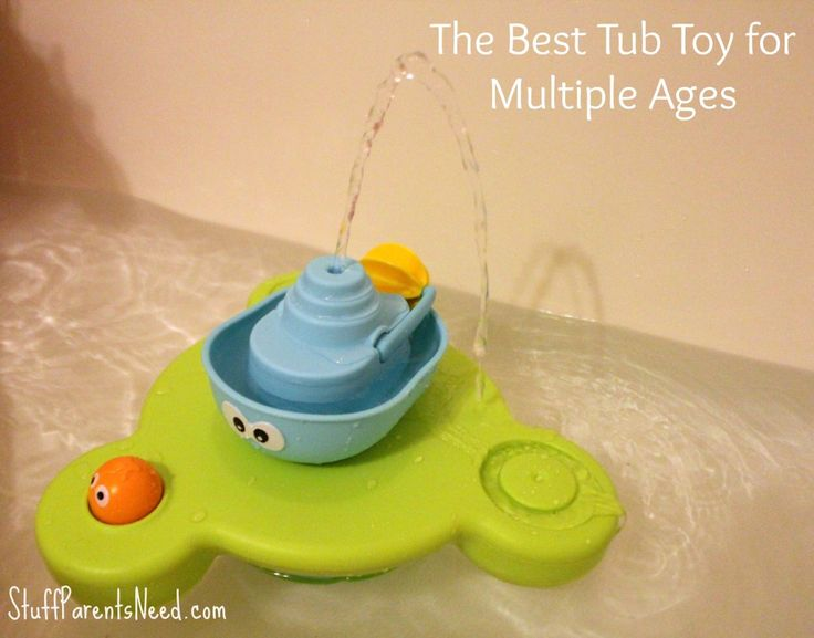 I found this particular tub toy from  Yookidoo to be a hit with my 3 year old and my 5 1/2 year old. I love finding things that entertain them both!