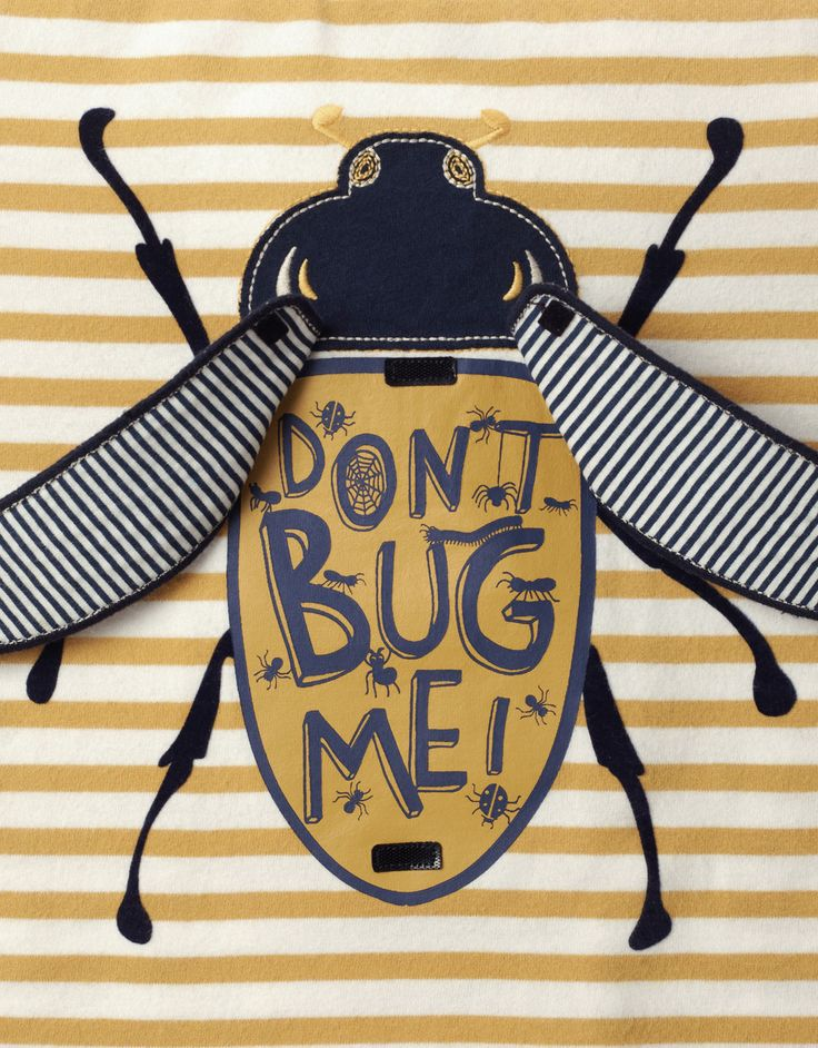Don't Bug Me Flipbook T-Shirt | Yellow | Monsoon