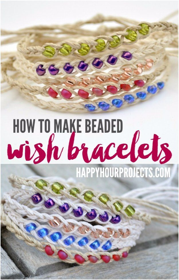 Easy Crafts To Make and Sell - Beaded Wish Bracelets - Cool Homemade Craft Projects You Can Sell On Etsy, at Craft Fairs, Online and in Stores. Quick and Cheap DIY Ideas that Adults and Even Teens Can Make http://diyjoy.com/easy-crafts-to-make-and-sell