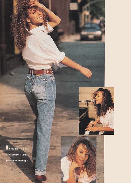 October 1990. 'Meet a young lady who sings more than just the blues.' Mariah Carey.