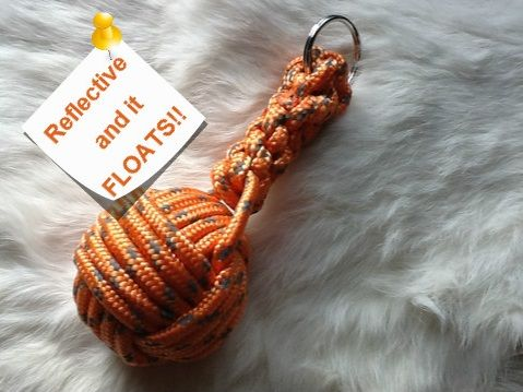Reflective and Floating Monkey Fists - Kings County Forge  Made with marine grade floating rope.