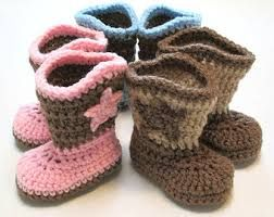Image result for crochet baby boots