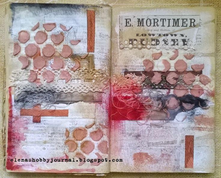 "Еlena's hobby journal - Дневник о моих хобби: Страница арт-журнала - ""Красные точки""."