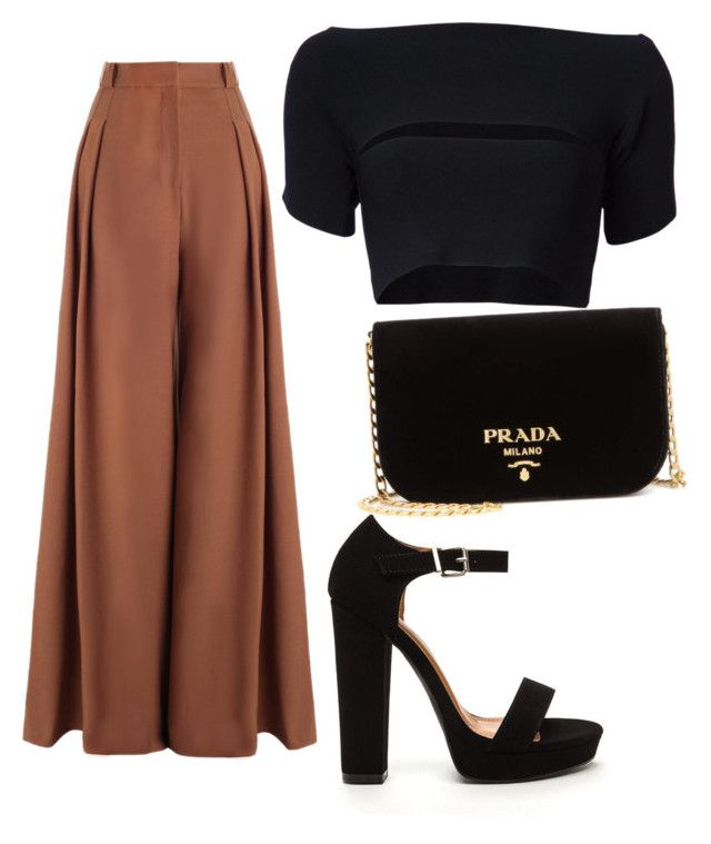 """""""Bronse & black"""" by tovenilsen on Polyvore featuring Zimmermann, T By Alexander Wang and Prada"""