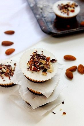 triple layer coconut chocolate almond butter cups