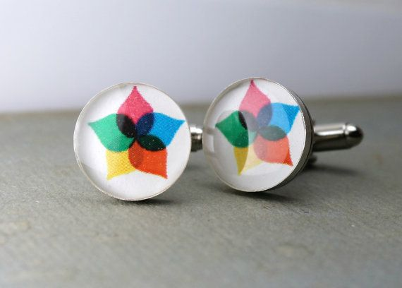 Round Logo Cufflinks. Customizable for You by dlkdesigns