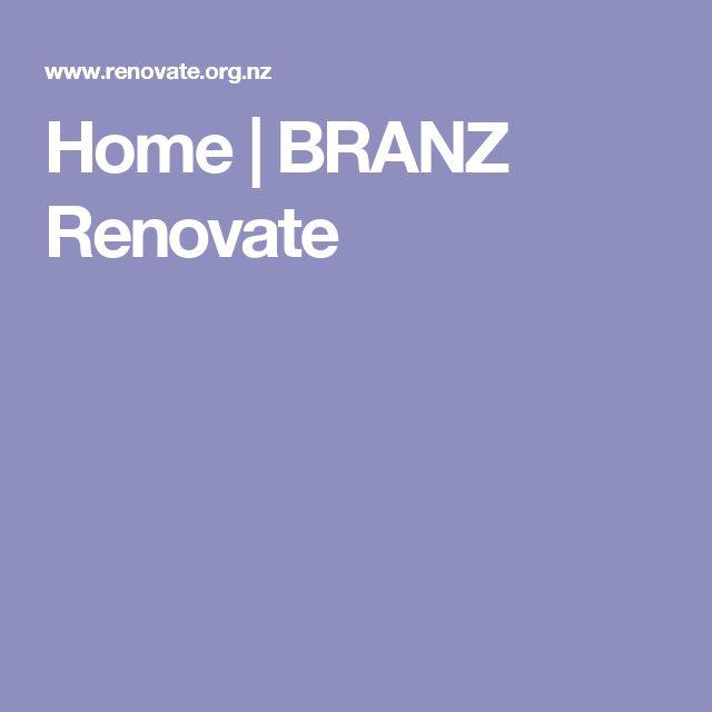 Home | BRANZ Renovate