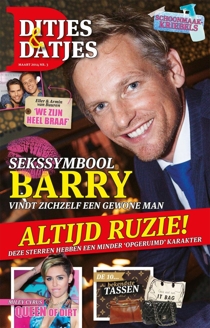 Cover Ditjes & Datjes 3, 2014 met Barry Atsma. #DitjesDatjes