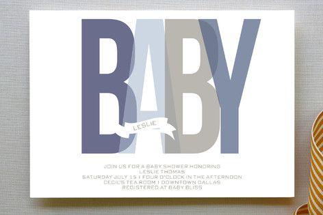 Bold Baby Baby Shower Invitations