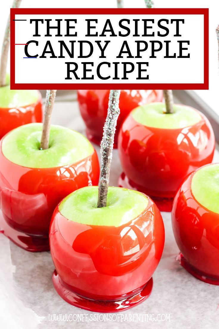The Easiest Candy Apple Recipe Confessions Of Parenting Candyapples Add A Pop Of Color This Fall Apfel Rezepte Glasierter Apfel Hausgemachte Sussigkeiten