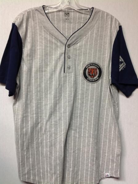 MLB Detroit Tigers Men's Cooperstown Collection Life or Death Henley V-Neck