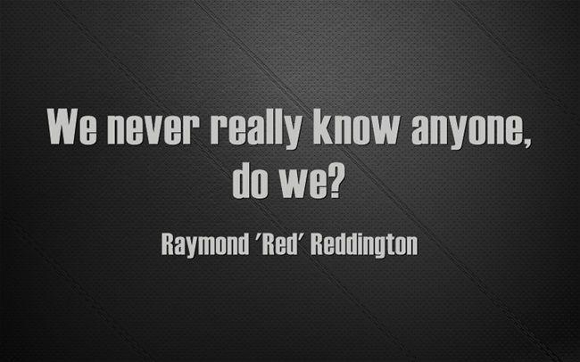 Raymond 'Red' Reddington, from The Blacklist