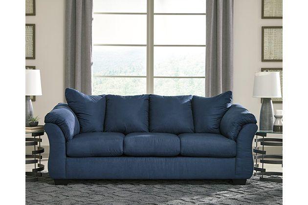 Darcy Sofa Blue Living Room Sets Love Seat Blue Loveseat