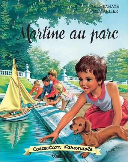Martine in the park: Gilbert Delahaye was a Belgian author. He is best known for the Martine books, a series of illustrated children's stories he prepared with artist Marcel Marlier