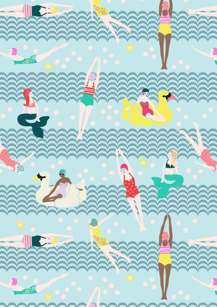 Swimsters pattern S/S16 - Rice.dk by Studio Sjoesjoe