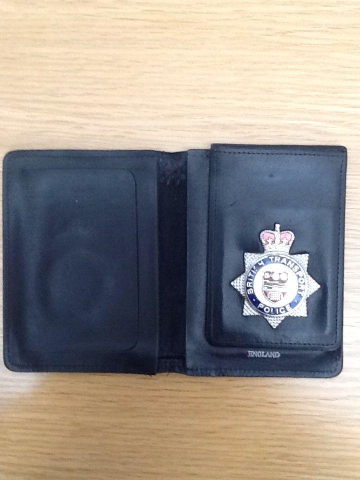 British transport police wallet & badge
