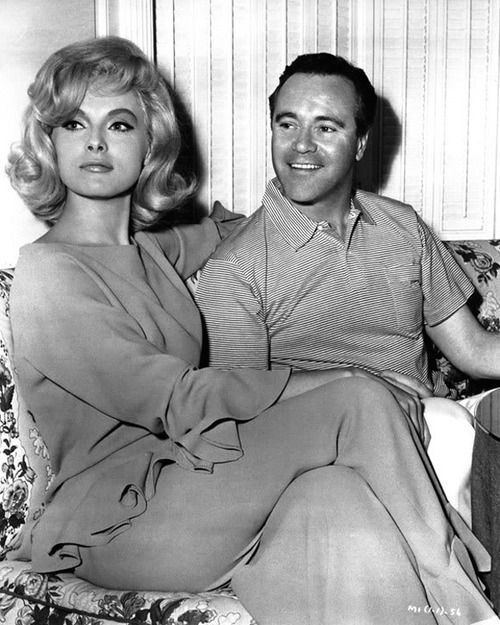 Virna Lisi, Jack Lemmon; publicity still for Richard Quine's How to Murder Your Wife