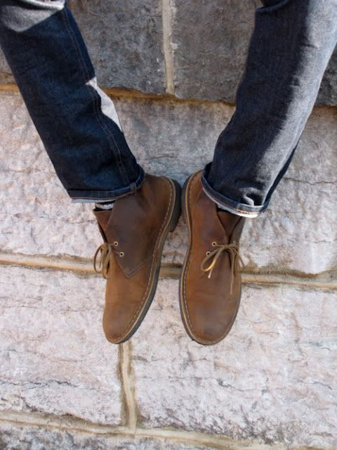 Be Cool Man - via Habitually Chic: Clarks Desert, Desert Boots, Guys Style, Man Boots, Men Fashion, Chukka Boots, Man Shoes, Men Casual Shoes, Leather Shoes