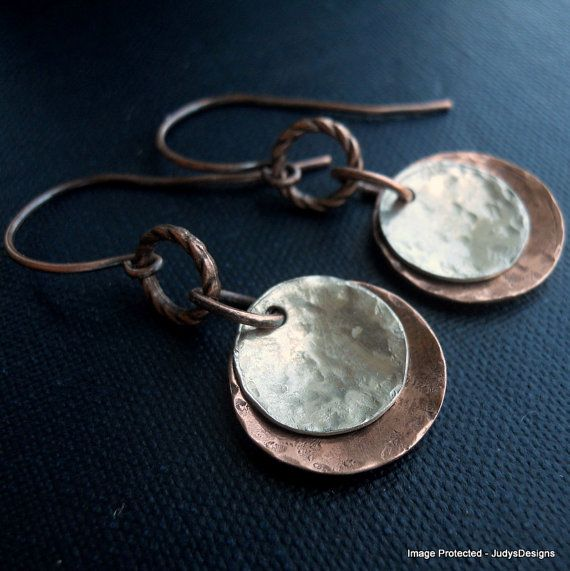 240 best cold connection jewelry images on pinterest for Hammered copper jewelry tutorial