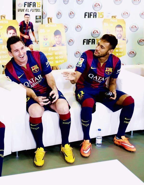 Messi and Neymar. I love them!!!