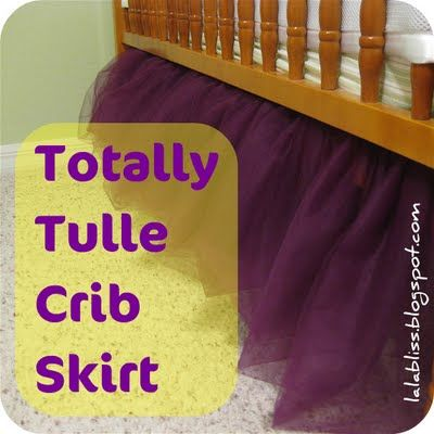 Cute idea: Tulle Crib Skirt. Wonder if I could do this for a toddler bed once Hayden is big enough?
