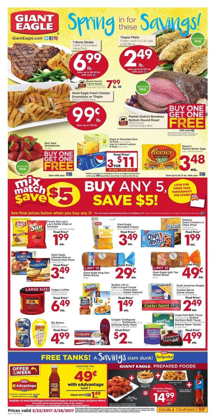 Giant Eagle Weekly Ad Circular March 23-29 United States #grocery #food #GiantEagle