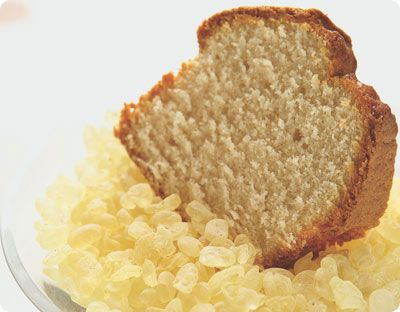 Mastic-flavored Almond Cake recipe by Stelios Parliaros.