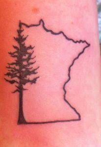 Minnesota: right shoulder blade