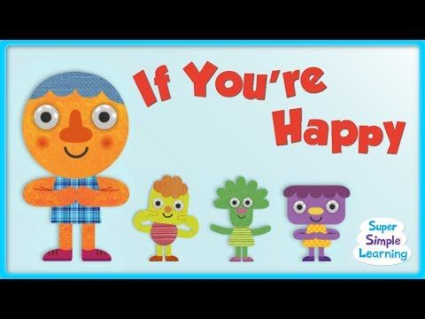 """If You're Happy And You Know It"" made Super Simple! Practice the emotions happy, angry, scared, and sleepy with this super fun song for kids. #SimpleSongs"