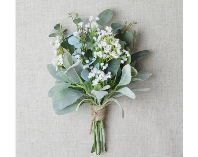 Bridesmaid Bouquet Wedding Flowers Silk Bridesmaid Bouquet Etsy In 2020 Flower Bouquet Wedding Simple Wedding Bouquets Bridesmaid Flowers