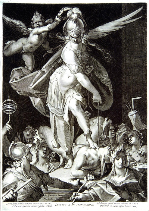 Triumph of Wisdom Over Ignorance by Aegidius Sadeler | via ackland.org