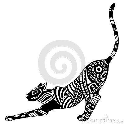 Les 25 meilleures id es concernant tatouages silhouette de chat sur pinterest silhouettes et l - Tatouage silhouette chat ...