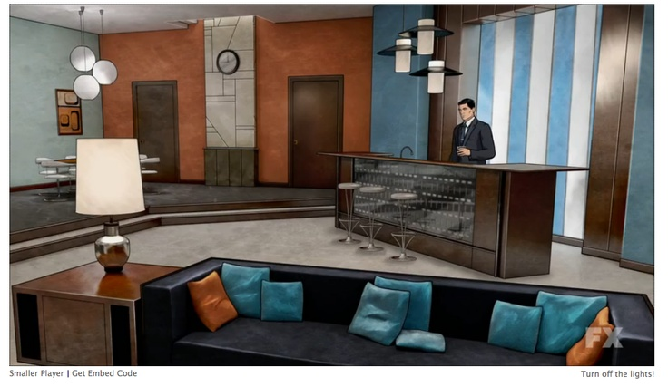 Sterling Archer's swanky pad