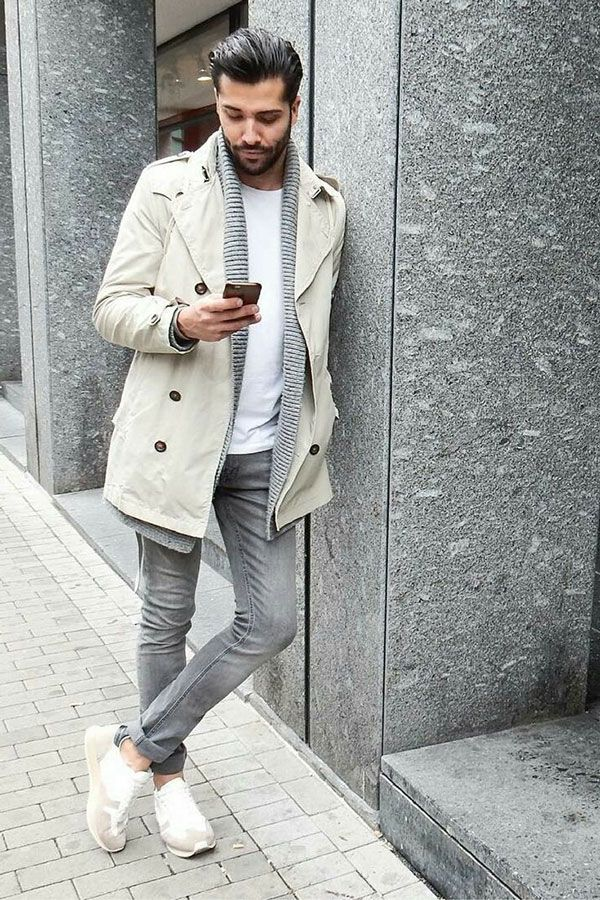 Gray Jeans Outfit 6 Easy Stylish Examples Coats Men 39 S Fashion And Man Style