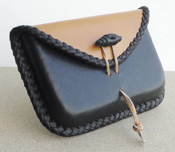 Leather bag wet formed envelope bag elegant handbag