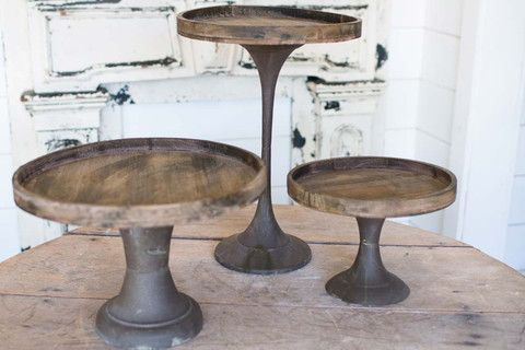 Tapered Wooden Cake Stands