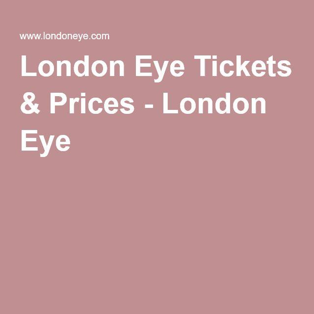 London Eye Tickets & Prices - London Eye