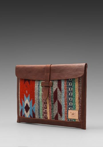 WILL Leather Goods Oaxacan Laptop Sleeve in Brown