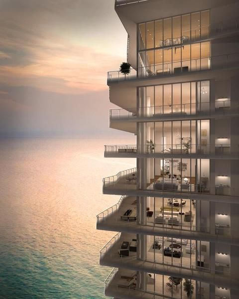 #B2B Miami's $50 Million Penthouse Condos The Bath Club Estates Penthouse
