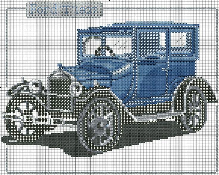 Ford T 1927 cross stitch