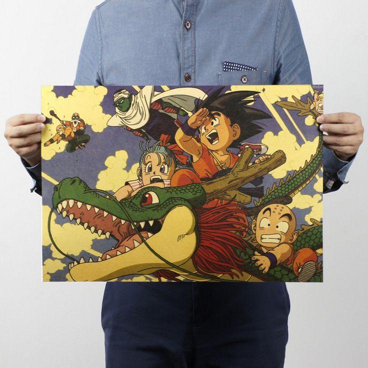 Barato Frete grátis, Dragon Ball / clássico dos desenhos animados filme Comic / papel kraft / bar Poster / Retro Poster / pintura decorativa 51 x 35.5 cm, Compro Qualidade Papéis de parede diretamente de fornecedores da China:              Material: 150 g papel kraft                                     Tamanho: 51*35,5 cm