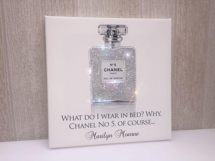 Perfume bottle glitter, diamonds, super sparkly canvas