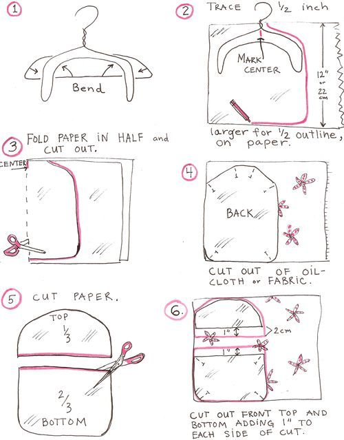 Bag Clothespin Sewing Pattern   Click on the pictures to enlarge and easily print them.