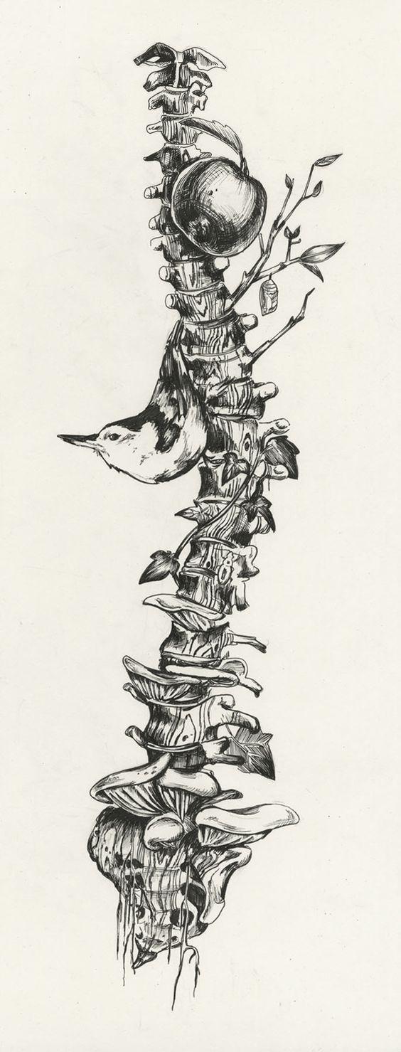 la columna de la vida