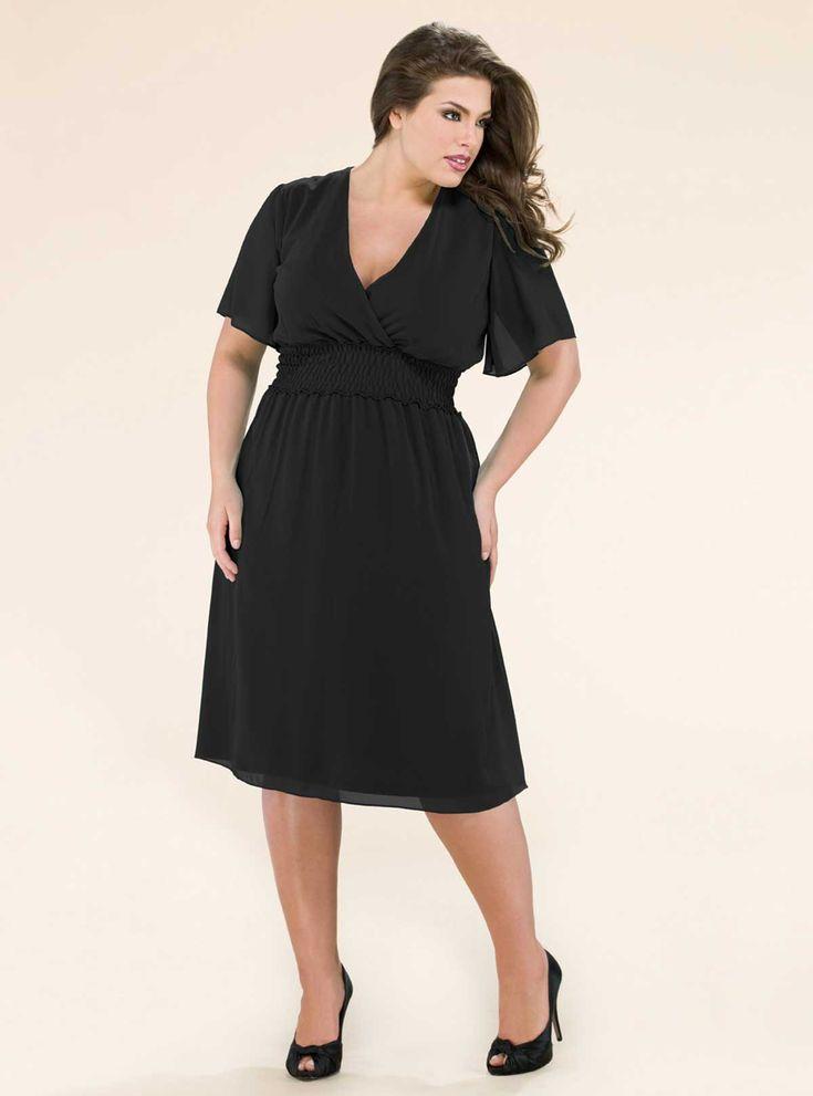 plus size dresses for women | Plus Size Kiyonna Chiffon Plus Size Party  Dresses