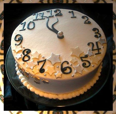 New Year's Eve Cake - For all your cake decorating supplies, please visit craftcompany.co.uk